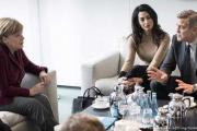 Меркель встретилась с Джорджем Клуни