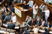 Сидячая забастовка партии Ляшко