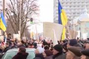 В Киеве педагоги перекрыли ул. Грушевского