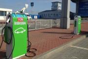 В аэропорту Харькова установили зарядки для электромобилей